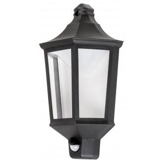 RABALUX 8980 | Rosewell Rabalux zidna svjetiljka sa senzorom 1x LED 500lm 3000K IP44 UV crno mat, prozirno
