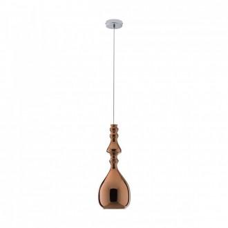 REDO 01-1084 | Ambix Redo visilice svjetiljka 1x E27 crveni bakar, krom