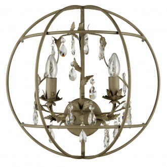 REGENBOGEN 104021902 | Jester Regenbogen zidna svjetiljka 2x E14 kristal