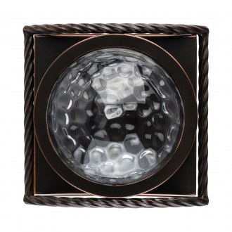 REGENBOGEN 104022901 | Jester Regenbogen zidna svjetiljka 1x E27 645lm kafena, prozirno