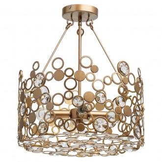 REGENBOGEN 121011104 | Monarch-MW Regenbogen stropne svjetiljke svjetiljka 4x E14 1720lm antik bakar, kristal