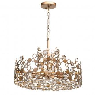 REGENBOGEN 121011206 | Monarch-MW Regenbogen visilice svjetiljka 6x E14 2580lm antik bakar, kristal