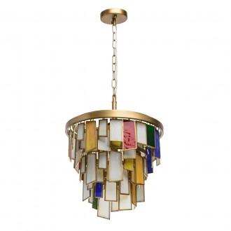 REGENBOGEN 185011106 | Morocco Regenbogen visilice svjetiljka 6x E14 2580lm antik zlato, višebojno