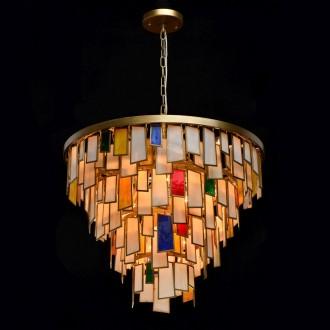 REGENBOGEN 185011215 | Morocco Regenbogen visilice svjetiljka 15x E14 6450lm antik zlato, višebojno