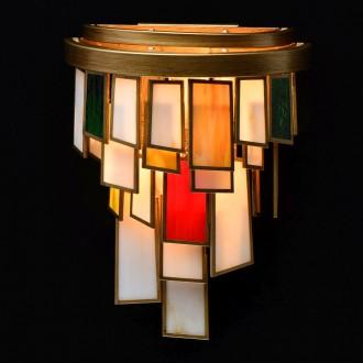 REGENBOGEN 185021002 | Morocco Regenbogen zidna svjetiljka 2x E14 860lm antik zlato, višebojno