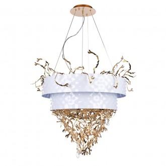REGENBOGEN 394011224 | Carmen-MW Regenbogen visilice svjetiljka 24x G9 10320lm bijelo, zlatno, kristal