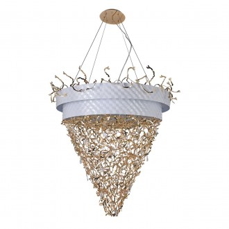REGENBOGEN 394011432 | Carmen-MW Regenbogen visilice svjetiljka 32x G9 13760lm bijelo, zlatno, kristal