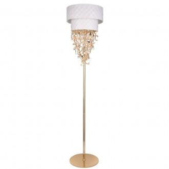 REGENBOGEN 394041608 | Carmen-MW Regenbogen podna svjetiljka s prekidačem 8x G9 3440lm bijelo, zlatno, kristal