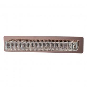 REGENBOGEN 498024601 | Goslar Regenbogen zidna svjetiljka 1x LED 665lm 4000K crveni bakar, kristal
