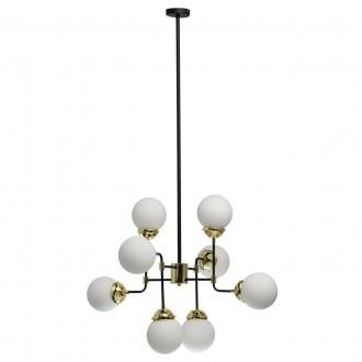 REGENBOGEN 605011108 | Hamburg-MW Regenbogen visilice svjetiljka 8x E27 3440lm crno, zlatno, bijelo