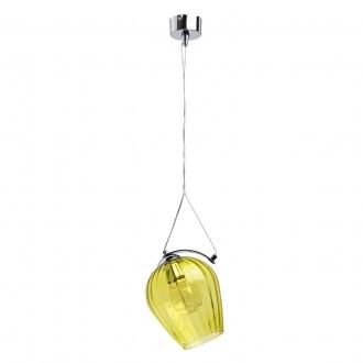 REGENBOGEN 606010401 | Bremen-MW Regenbogen visilice svjetiljka 1x E27 645lm krom, prozirno, žuto