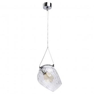 REGENBOGEN 606010501 | Bremen-MW Regenbogen visilice svjetiljka 1x E27 645lm krom, prozirno