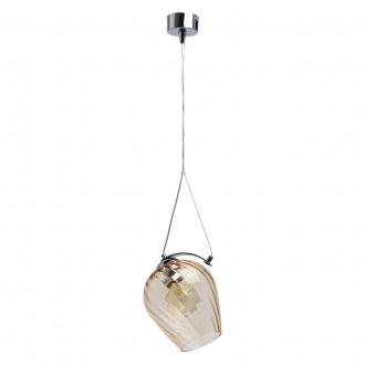 REGENBOGEN 606010601 | Bremen-MW Regenbogen visilice svjetiljka 1x E27 645lm krom, jantar