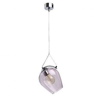REGENBOGEN 606010701 | Bremen-MW Regenbogen visilice svjetiljka 1x E27 645lm krom, prozirno, ljubičasta