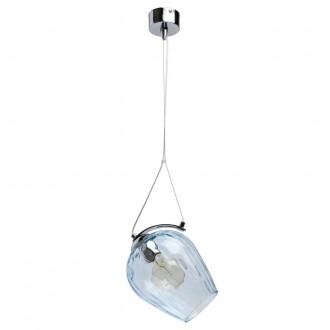 REGENBOGEN 606010801 | Bremen-MW Regenbogen visilice svjetiljka 1x E27 645lm krom, prozirno plava