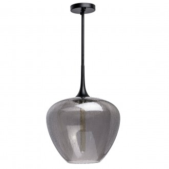 REGENBOGEN 606011401 | Bremen-MW Regenbogen visilice svjetiljka 1x E27 crno, dim, efekt vodene kapi