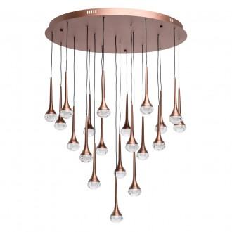 REGENBOGEN 609015520 | Flensburg Regenbogen visilice svjetiljka 1x LED 7200lm 4000K kafena, kristal