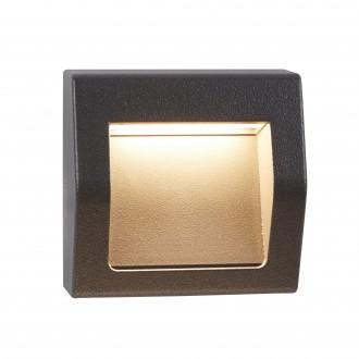 SEARCHLIGHT 0221GY | Ankle Searchlight ugradbena svjetiljka 1x LED 100lm 4000K IP54 tamno siva, acidni