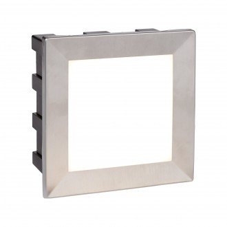 SEARCHLIGHT 0763 | Ankle Searchlight ugradbena svjetiljka 1x LED 163lm 4000K IP65 krom, opal
