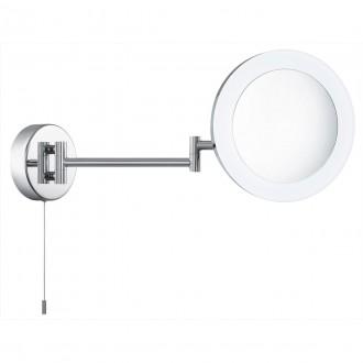 SEARCHLIGHT 1456CC | MirrorS Searchlight zidna svjetiljka s poteznim prekidačem elementi koji se mogu okretati 1x LED 295lm 4000K IP44 krom, acidni, zrcalo