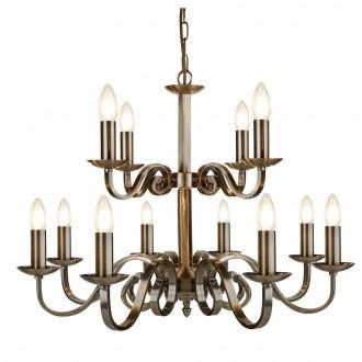 SEARCHLIGHT 15012-12AB | RichmondS Searchlight luster svjetiljka 12x E14 antik bakar