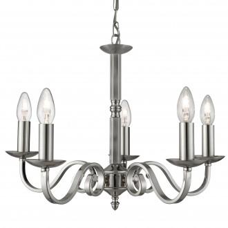 SEARCHLIGHT 1505-5SS | RichmondS Searchlight luster svjetiljka 5x E14 saten srebro