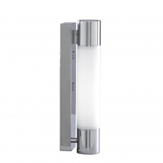 SEARCHLIGHT 2208CC-LED | Poplar Searchlight zidna svjetiljka 1x LED 680lm 3000K IP44 krom, bijelo, opal