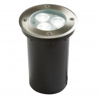 SEARCHLIGHT 2505WH | Walkover Searchlight ugradbena svjetiljka Ø110mm 3x LED 240lm 6000K IP67 krom, prozirno