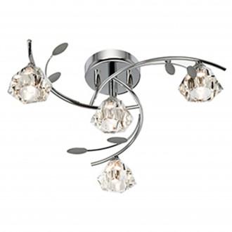 SEARCHLIGHT 2634-4CC | SierraS Searchlight stropne svjetiljke svjetiljka 4x G9 krom, prozirno
