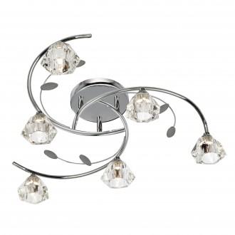 SEARCHLIGHT 2636-6CC | SierraS Searchlight stropne svjetiljke svjetiljka 6x G9 krom, prozirno