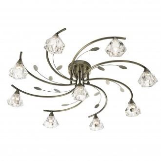 SEARCHLIGHT 2639-9AB | SierraS Searchlight stropne svjetiljke svjetiljka 9x G9 antik bakar, prozirno