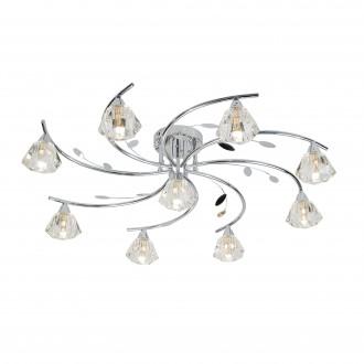SEARCHLIGHT 2639-9CC | SierraS Searchlight stropne svjetiljke svjetiljka 9x G9 krom, prozirno