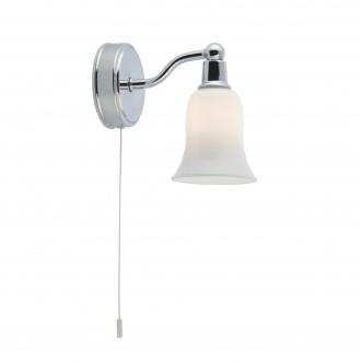 SEARCHLIGHT 2931-1CC-LED | Belvue Searchlight zidna svjetiljka s poteznim prekidačem 1x G9 280lm 3000K IP44 krom, bijelo, acidni