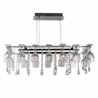 SEARCHLIGHT 41510-10CC | VinoS Searchlight visilice svjetiljka 10x G4 krom, prozirno