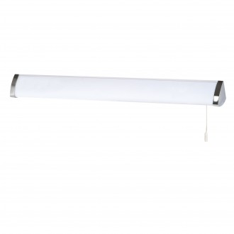 SEARCHLIGHT 5372CC | Poplar Searchlight zidna svjetiljka s poteznim prekidačem 1x G5 / T5 4000K IP44 krom, bijelo, opal