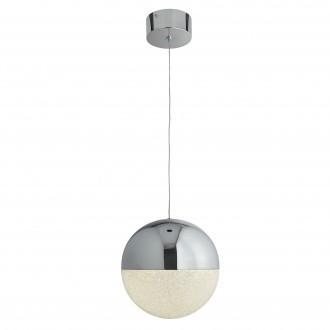 SEARCHLIGHT 5841CC | marble effects Searchlight visilice svjetiljka s mogućnošću skraćivanja kabla 1x LED 600lm 4000K krom, bijelo, učinak kristala