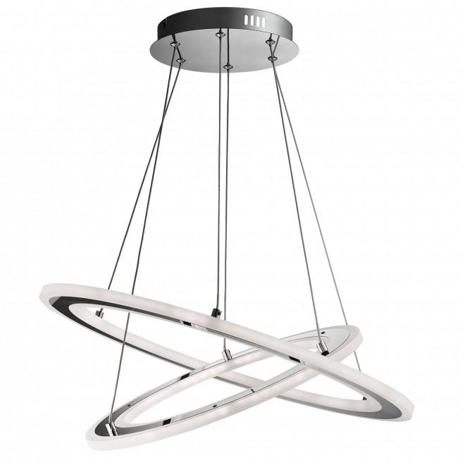 SEARCHLIGHT 5882-2CC | Solexa Searchlight visilice svjetiljka okrugli 1x LED 3024lm 3000K krom, acidni