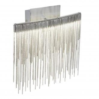 SEARCHLIGHT 6052SS | Memphis Searchlight zidna svjetiljka s prekidačem 1x LED 480lm 4000K krom, saten srebro, sivo
