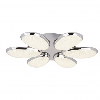 SEARCHLIGHT 6216-6CC | LoriSe Searchlight stropne svjetiljke svjetiljka 1x LED 2800lm 4000K krom, bijelo, učinak kristala