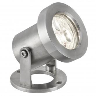 SEARCHLIGHT 6223SS | OutdoorS-035 Searchlight reflektori svjetiljka pomjerljivo 1x LED 240lm 6500K IP65 saten srebro, prozirno