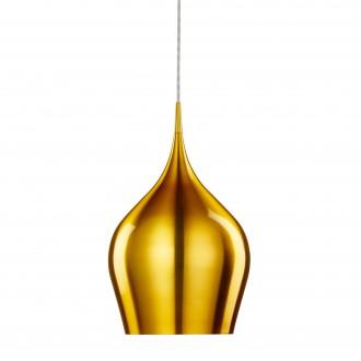 SEARCHLIGHT 6461-26GO | Vibrant Searchlight visilice svjetiljka 1x E27 zlatno, bijelo
