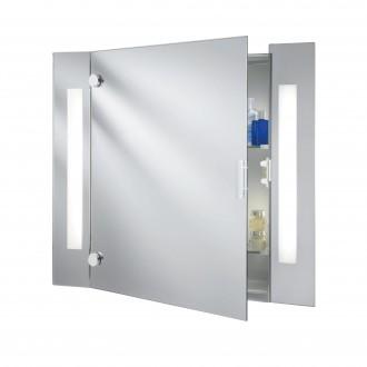SEARCHLIGHT 6560 | MirrorS Searchlight zidna svjetiljka s prekidačem s utičnicom 2x G13 / T8 1250lm 4000K IP44 bijelo, zrcalo