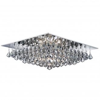 SEARCHLIGHT 7308-8CC | Hanna Searchlight stropne svjetiljke svjetiljka 8x G9 krom, prozirno