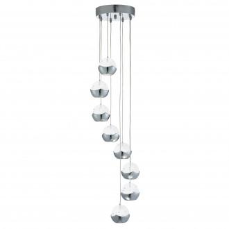 SEARCHLIGHT 7358-8CC | Ice-Ball Searchlight visilice svjetiljka 8x LED 2400lm 3000K krom, prozirno, efekt mjehura