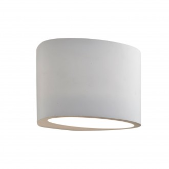 SEARCHLIGHT 8721   GypsumS Searchlight zidna svjetiljka sa površinom za bojanje 1x G9 bijelo