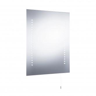SEARCHLIGHT 9305 | MirrorS Searchlight zidna svjetiljka s poteznim prekidačem baterijska/akumulatorska 1x LED 196lm 6000K IP44 bijelo, acidni, zrcalo