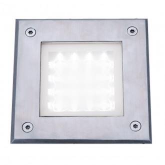 SEARCHLIGHT 9909WH | Walkover Searchlight ugradbena svjetiljka 150x150mm 1x LED 20lm 6000K IP68 krom, prozirno, acidni
