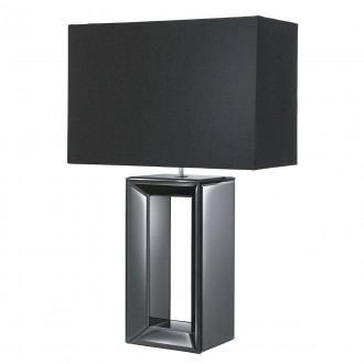 SEARCHLIGHT EU1610BK   MirrorS Searchlight stolna svjetiljka 58cm s prekidačem 1x E27 blistavo crna, zrcalo, crno mat