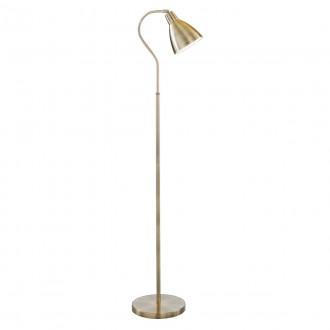SEARCHLIGHT EU5026AB | Adjustable Searchlight podna svjetiljka 145cm s prekidačem elementi koji se mogu okretati 1x E27 antik bakar, bijelo