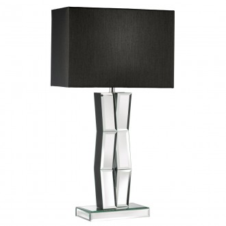 SEARCHLIGHT EU5110BK   MirrorS Searchlight stolna svjetiljka 60cm s prekidačem 1x E27 krom, zrcalo, crno